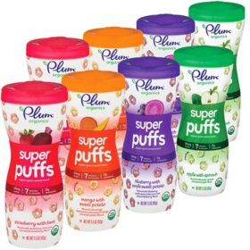 Plum Organics Super Puffs Cereal Snack, Variety Pack (1.5 oz., 8 ct.)