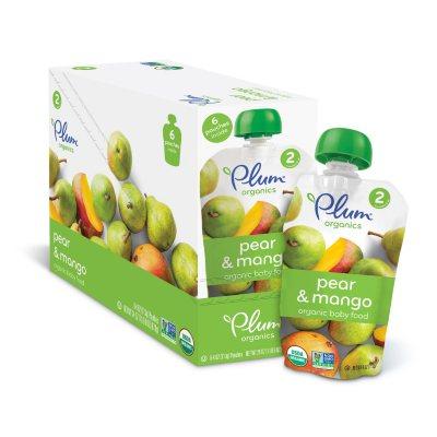 Plum Organics Stage 2 Organic Baby Food, Pear Mango (4 oz., 6 pk.)