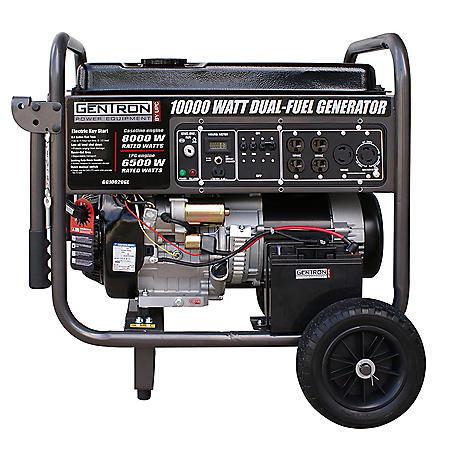 Gentron 10 000 Watt Dual Propane And Gasoline Powered Portable Generator Sam S Club
