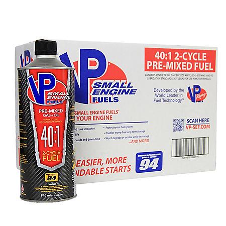 VP Small Engine Fuels 40:1 Premixed Fuel (8-pack/32oz bottles)