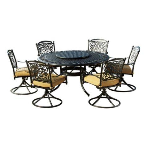 Renaissance 8 pc Outdoor Patio Dining Set with Premium Sunbrella Fabric