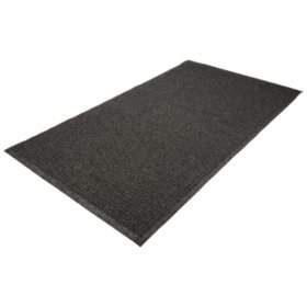 Guardian EcoGuard Indoor/Outdoor Wiper Mat, Rubber, Charcoal (Choose Your Size)