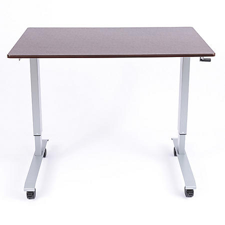 "48"" Crank Standing Desk, Dark Walnut"
