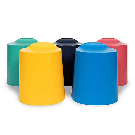 TailFin Plastic Stackable Stools - 5 Pack