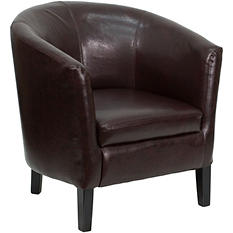 Flash Furniture Leather Barrel Shaped Guest Chair (Various Colors)