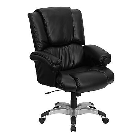 Exceptionnel Flash Furniture High Back Leather Overstuffed Executive Chair Black