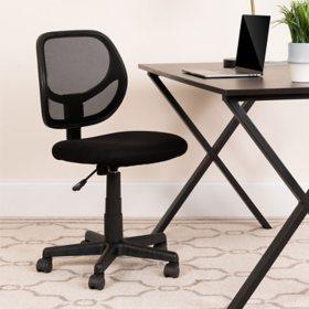Flash Furniture Mid-Back Mesh Computer & Task Chair, Black
