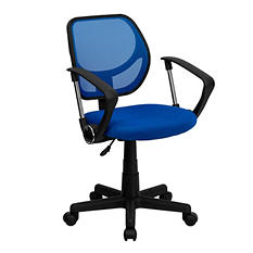 Flash Furniture Mid-Back Mesh Task & Computer Chair with Arms - Blue