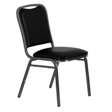 Hercules Vinyl Banquet Chair, Black - 40 Pack