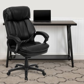 Wellness By Design Bonded Leather Air Executive Office Chair Brown