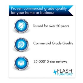 Flash Furniture High Back Executive Office Chair With Flip Up Arms