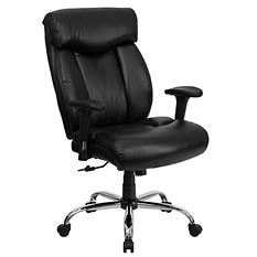 Flash Furniture Hercules Series Big & Tall Leather Office Chair, Black
