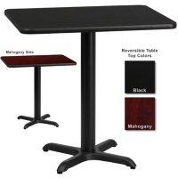 """Hospitality Table - Rectangular - Black/Mahogany - 24"""" x 30"""" - 6 pk."""