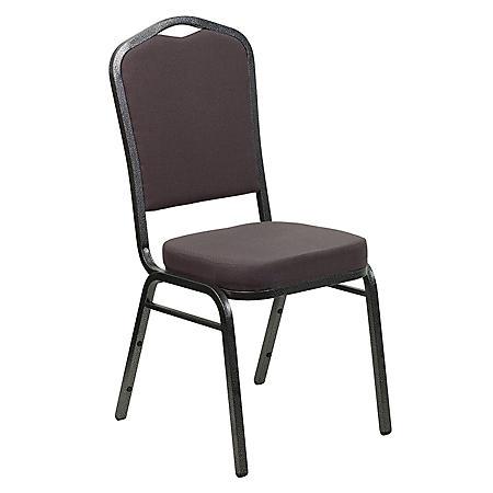 Flash Furniture Hercules Series Crown Back Fabric Banquet Chair, Gray