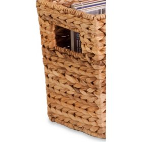 Honey-Can-Do Natural Water Hyacinth Magazine Storage Basket