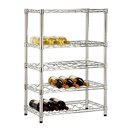 Honey-Can-Do Adjustable Wine Rack (Chrome)