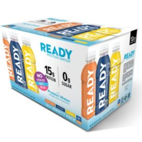 Ready Nutrition Protein Water Variety Pack (16.9 oz., 12 ct.)