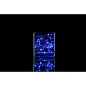 Meilo 12' Battery-Operated LED Micro String Lights, Blue (assorted pack sizes)