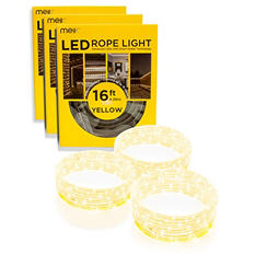 3-Pack of 16' (48' Total), Bug off! Garden Improvement Project, All Occasions/Indoor Outdoor LED Rope Light/DIY/Home/Commercial Use