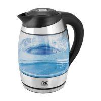 Kalorik 1.8 Liter Digital Water Kettle with Color LED, Glass