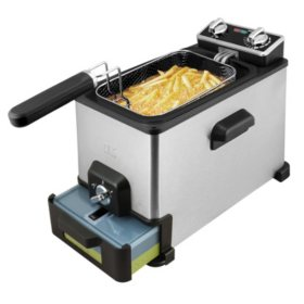 Kalorik 4.2 Quart Deep Fryer with Oil Filtration XL, Stainless Steel