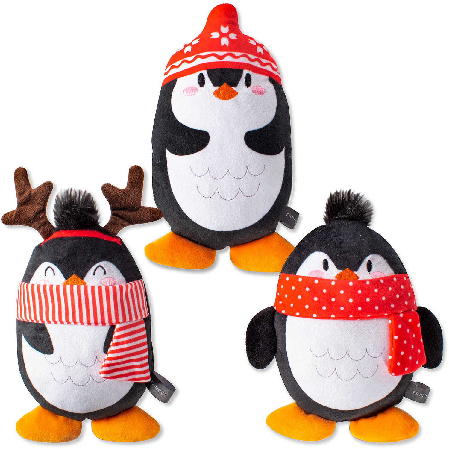 3-Pack PetShop by Fringe Studio Chillin' Penguins Dog Toys