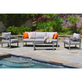 Sam\'s Club - Kelowna Aluminum 4-Piece Patio Seating Set with ...
