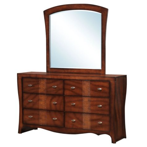 Jansen 6-Drawer Dresser with Mirror