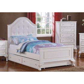 Jenna Bed with Rolling Trundle (Assorted Sizes)