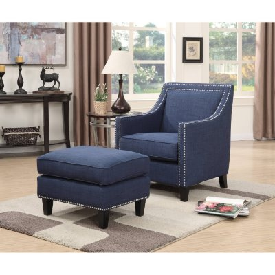 living room chairs sam\u0027s clubemery accent chair \u0026 ottoman (assorted colors)