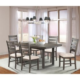 Sullivan Dining Table and Side Chairs, 7-Piece Set