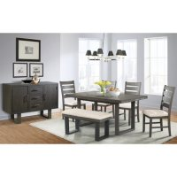 Sullivan Dining Table Side Chairs Bench 7-Piece Set Deals