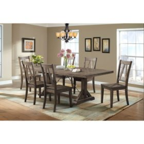 Flynn Dining Table and Side Chairs, 7-Piece Set
