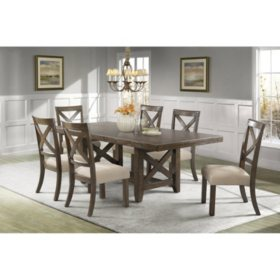 Francis Dining Table And Side Chairs 7 Piece Set Sam S Club