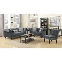 Twine Armless Chair - Slate