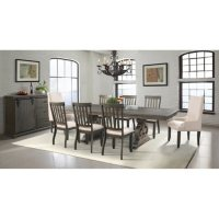 Stanford Dining Table, Side Chairs, Parson Chairs and Server, 10-Piece Set