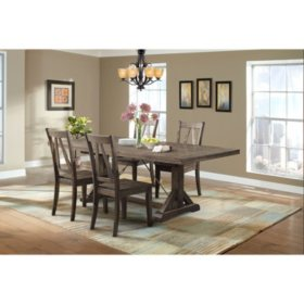 Flynn Dining Table and Side Chairs, 5-Piece Set