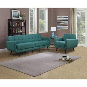 Hailey Sofa & Chair Set, Assorted Colors