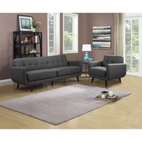 Hailey Sofa & Chair Set, Assorted Colors