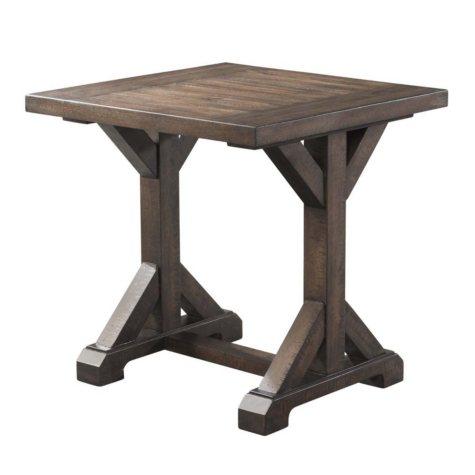 Society Den Flynn Trestle End Table