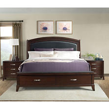 Elaine Platform Storage Bed and Nightstands, 3-Piece Set (Assorted Sizes)