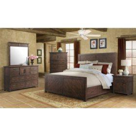 Dex Dresser & Mirror Set - Walnut