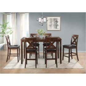 Alexa 7-Piece Counter Height Dining Set (Assorted Colors)