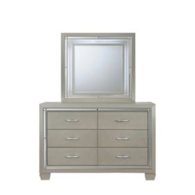 Glamour Youth Dresser & Mirror with LED Light Set