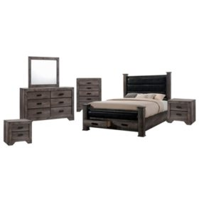 Grayson Storage Poster Bedroom Set (Assorted Sizes)