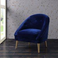 Taryn Accent Chair - Navy Blue