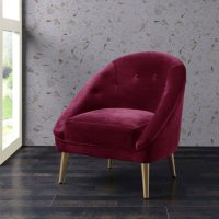 Taryn Accent Chair - Cranberry