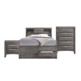 Madison Storage Platform Bedroom Set (Assorted Sizes)