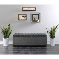 Carson Shoe Storage Bench - Slate