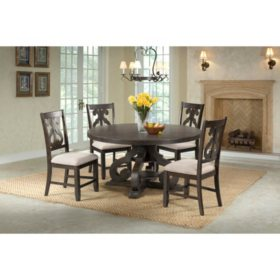 Society Den Stanford Round Dining Set (Assorted Sizes)
